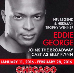 Eddie George in Broadway's CHICAGO